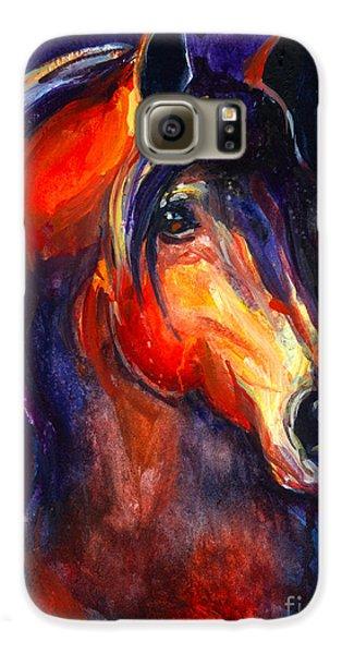 Soulful Horse Painting Galaxy S6 Case by Svetlana Novikova