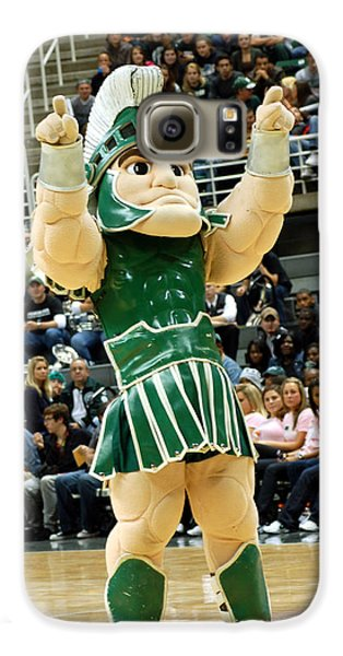 Sparty At Basketball Game  Galaxy S6 Case by John McGraw