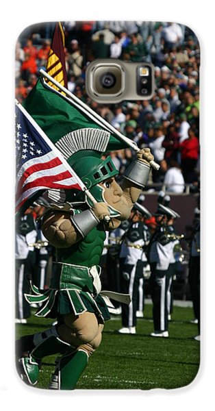 Sparty At Football Game Galaxy S6 Case by John McGraw
