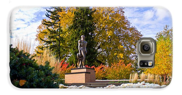 Sparty In Autumn  Galaxy S6 Case by John McGraw