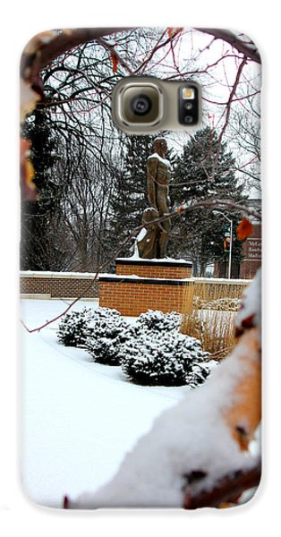 Sparty In The Winter Galaxy S6 Case by John McGraw