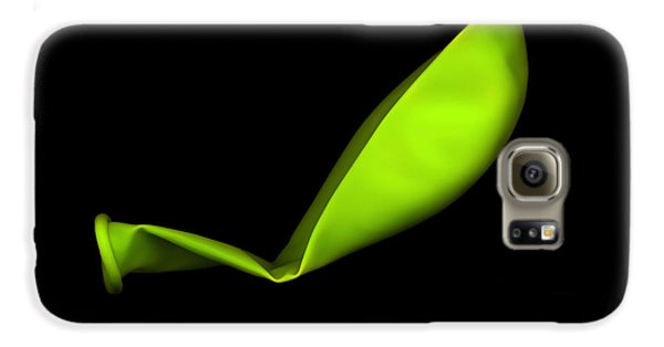 Square Lime Green Balloon Galaxy S6 Case by Julian Cook