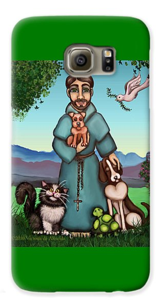 St. Francis Libertys Blessing Galaxy S6 Case by Victoria De Almeida