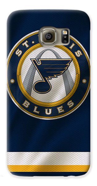 St Louis Blues Uniform Galaxy S6 Case by Joe Hamilton