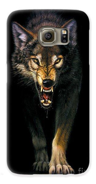 Stalking Wolf Galaxy S6 Case by MGL Studio - Chris Hiett