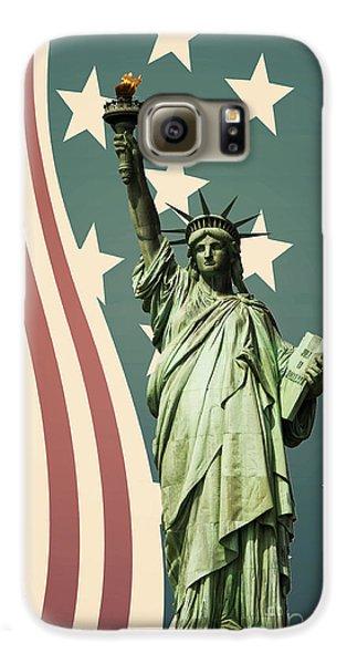 Statue Of Liberty Galaxy S6 Case by Juli Scalzi
