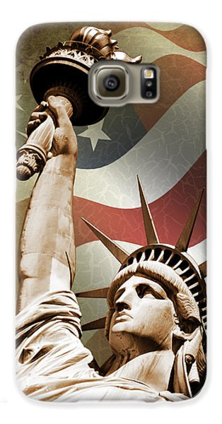 Statue Of Liberty Galaxy S6 Case by Mark Rogan