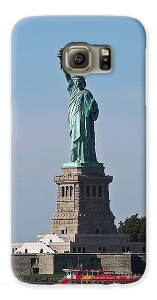 Statue Of Liberty Galaxy S6 Case by Rona Black