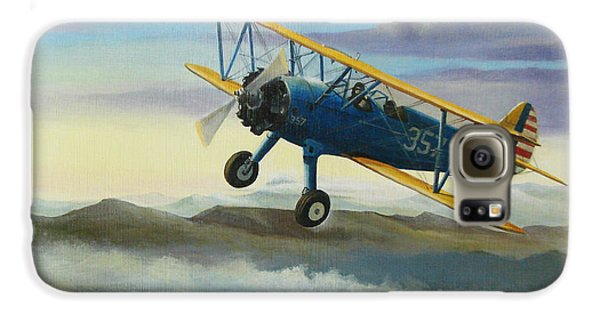 Stearman Biplane Galaxy S6 Case by Stuart Swartz