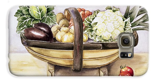 Still Life With A Trug Of Vegetables Galaxy S6 Case by Alison Cooper