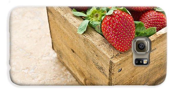Strawberries Galaxy S6 Case by Edward Fielding