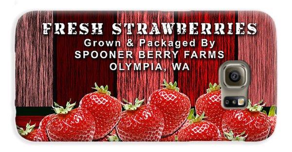 Strawberry Farm Galaxy S6 Case by Marvin Blaine
