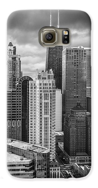 Streeterville From Above Black And White Galaxy S6 Case by Adam Romanowicz