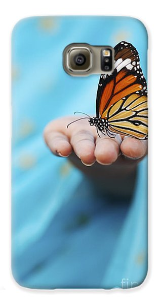 Striped Tiger Butterfly Galaxy S6 Case by Tim Gainey
