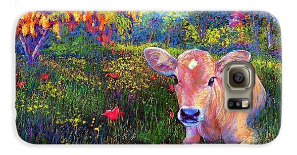 Such A Contented Cow Galaxy S6 Case by Jane Small