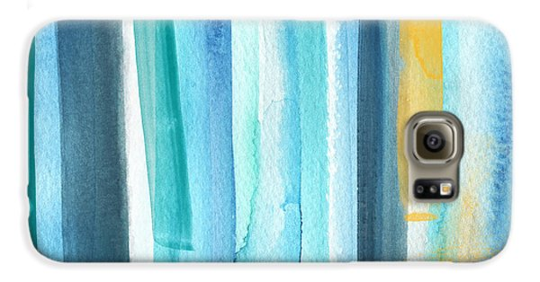 Summer Surf- Abstract Painting Galaxy S6 Case by Linda Woods