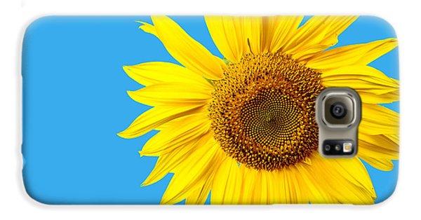 Sunflower Blue Sky Galaxy S6 Case by Edward Fielding