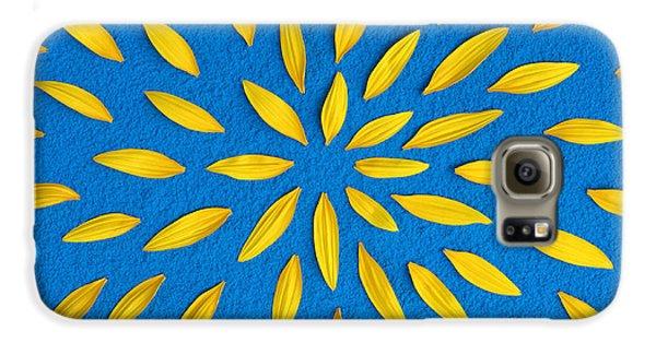 Sunflower Petals Pattern Galaxy S6 Case by Tim Gainey