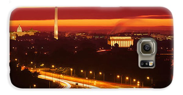Sunset, Aerial, Washington Dc, District Galaxy S6 Case by Panoramic Images