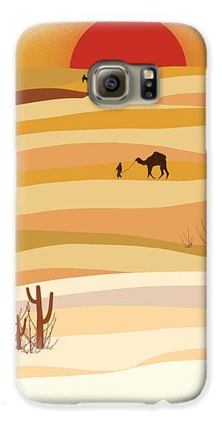 Sunset In The Desert Galaxy S6 Case by Neelanjana  Bandyopadhyay