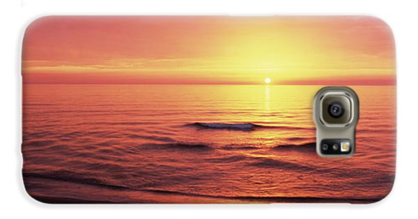 Sunset Over The Sea, Venice Beach Galaxy S6 Case by Panoramic Images