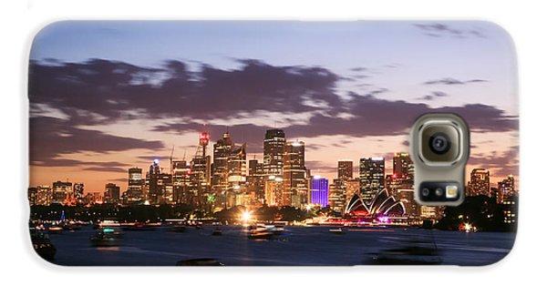 Sydney Skyline At Dusk Australia Galaxy S6 Case by Matteo Colombo