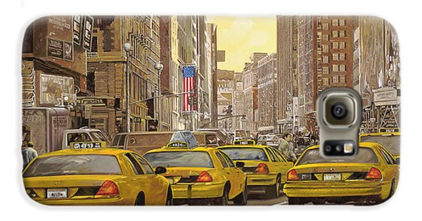 taxi a New York Galaxy S6 Case by Guido Borelli