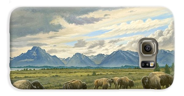 Tetons-buffalo  Galaxy S6 Case by Paul Krapf