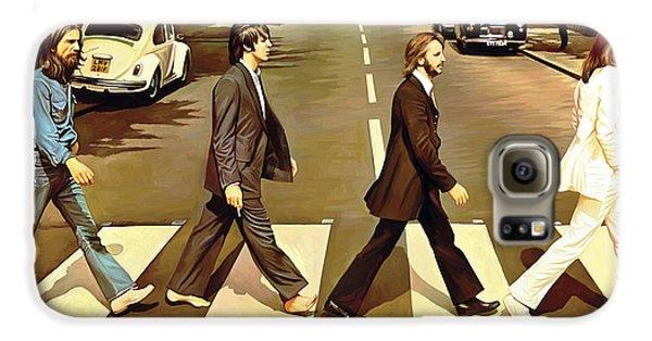 The Beatles Abbey Road Artwork Galaxy S6 Case by Sheraz A