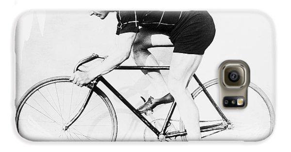 The Bicyclist - 1914 Galaxy S6 Case by Daniel Hagerman