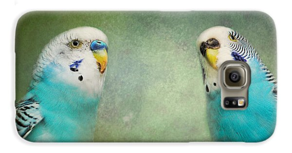 The Budgie Collection - Budgie Pair Galaxy S6 Case by Jai Johnson