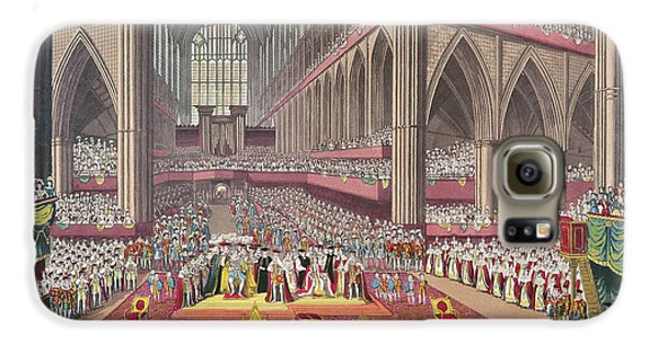 The Coronation Of King William Iv And Queen Adelaide, 1831 Colour Litho Galaxy S6 Case by English School