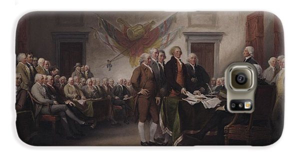 The Declaration Of Independence, July 4, 1776 Galaxy S6 Case by John Trumbull