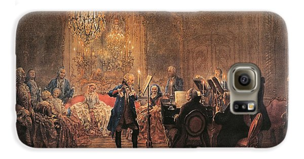 The Flute Concert Galaxy S6 Case by Adolph Friedrich Erdmann von Menzel
