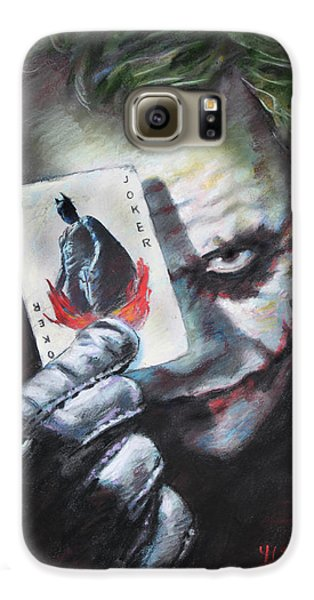 The Joker Heath Ledger  Galaxy S6 Case by Viola El