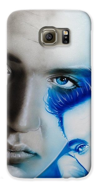 Elvis Presley - ' The King ' Galaxy S6 Case by Christian Chapman Art