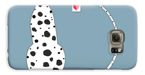 The Letter D For Dalmatian Galaxy S6 Case by Valerie Drake Lesiak