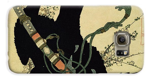 The Little Raven With The Minamoto Clan Sword Galaxy S6 Case by Katsushika Hokusai