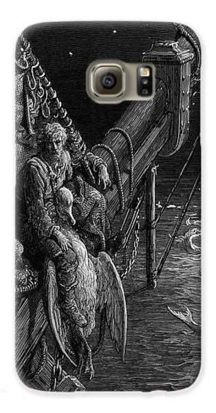 The Mariner Gazes On The Serpents In The Ocean Galaxy S6 Case by Gustave Dore