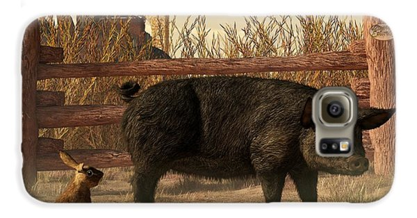 The Pig And The Hare Samsung Galaxy Case by Daniel Eskridge