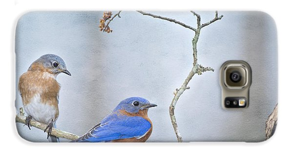 The Presence Of Bluebirds Galaxy S6 Case by Bonnie Barry