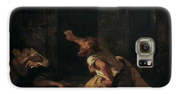The Prisoner Of Chillon Galaxy S6 Case by Ferdinand Victor Eugene Delacroix