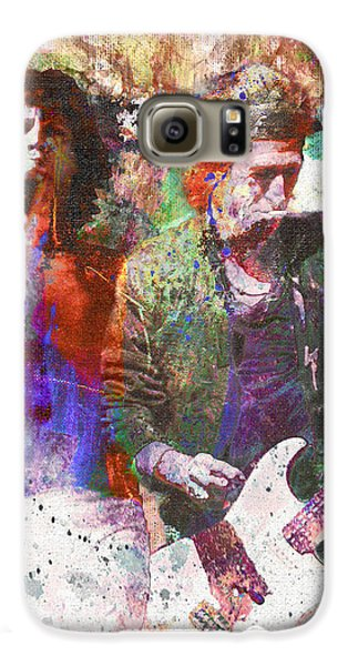 The Rolling Stones Original Painting Print  Galaxy S6 Case by Ryan Rock Artist