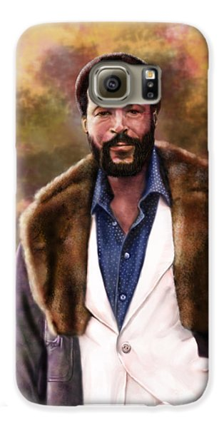The Silky Silky Soul Singer - Marvin Gaye  Galaxy S6 Case by Reggie Duffie