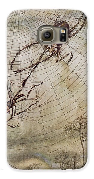 The Spider And The Fly Galaxy S6 Case by Arthur Rackham