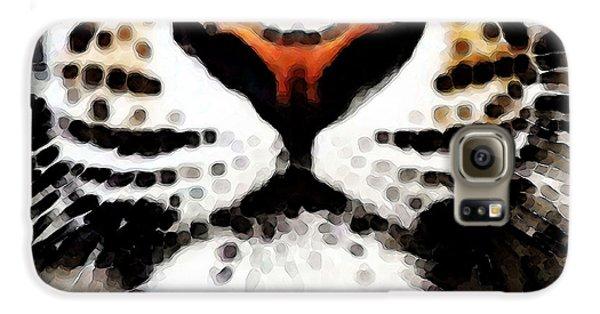 Tiger Art - Burning Bright Galaxy S6 Case by Sharon Cummings