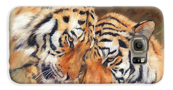 Tiger Love Galaxy S6 Case by David Stribbling