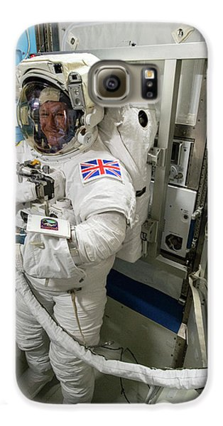 Tim Peake Preparing For Spacewalk Galaxy S6 Case by Nasa