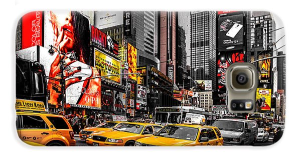 Times Square Taxis Galaxy S6 Case by Az Jackson