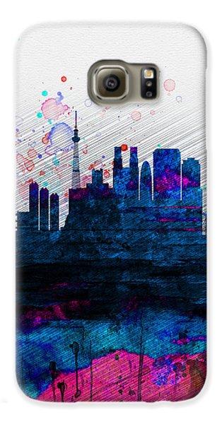 Tokyo Watercolor Skyline 2 Galaxy S6 Case by Naxart Studio